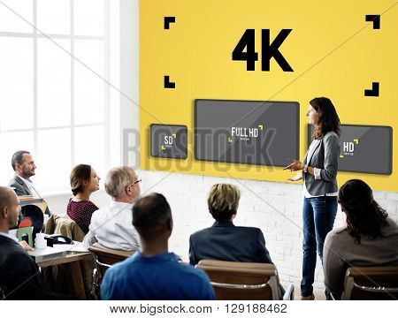 4K Digital Entertainment Media Streaming Tv Concept
