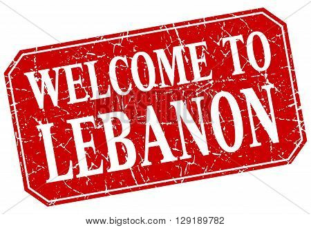 welcome to Lebanon red square grunge stamp