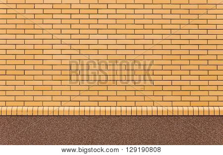 beige brick wall with shimmercan be used as background