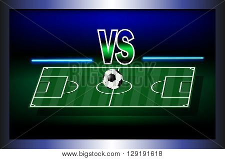 Soccer playing field with match competition. Vector illustration.
