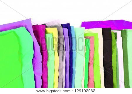 Crumpled Color Papers Background