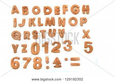 Ginger Bread Alphabet