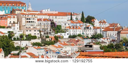 Panoramic View Of Graca District In Lisbon, Portugal