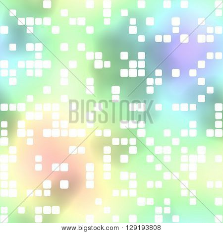 Colored background. White Squares pattern or wallpaper