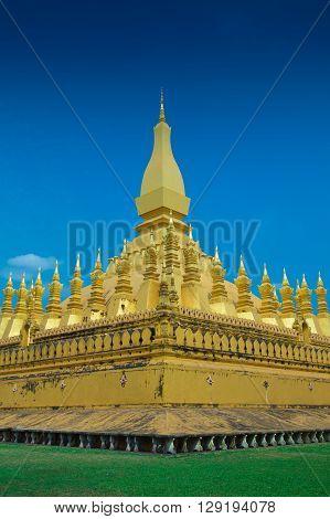 Laos temple worship in Laos, Wat Luang