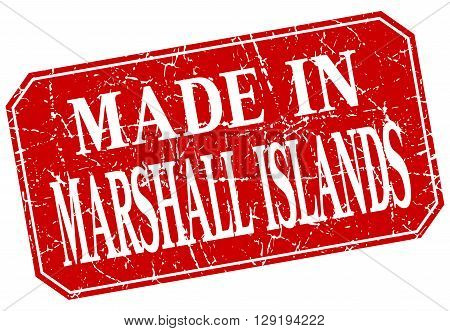 made in Marshall Islands red square grunge stamp