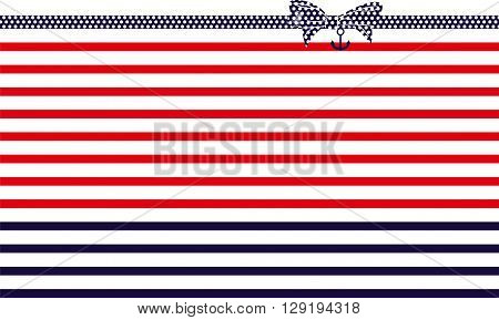 vector illustration  american flag with Bow tie design in red and blue color