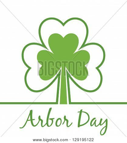 Arbor Day. Modern simple card. Save the world. Ecology concept. Modern simple card. Abstract plant.