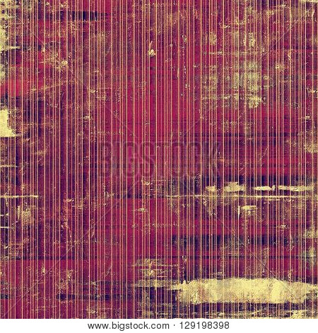 Distressed grunge texture, damaged vintage background with different color patterns: yellow (beige); brown; red (orange); purple (violet); pink