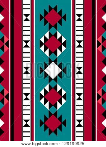 Middle Eastern Rug Pattern From The Arabian Gulf Region