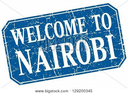 welcome to Nairobi blue square grunge stamp