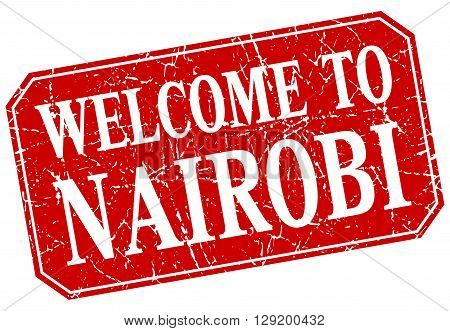 welcome to Nairobi red square grunge stamp