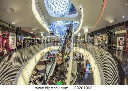 People Enjoy Famous Modern Myzeil Mall
