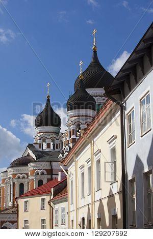 Alexander Nevsky Cathedral. Old city Tallinn Estonia.