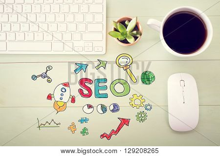 Seo Concept With Workstation
