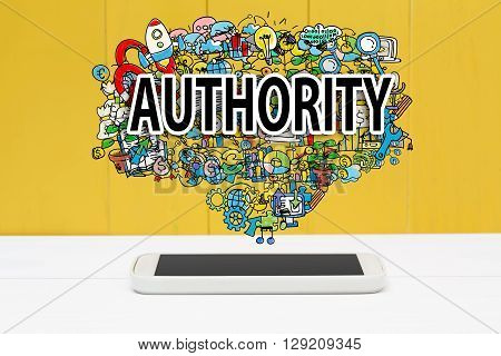 Authority Concept With Smartphone