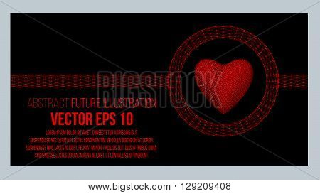 Creative concept Background of the heart. Abstract Creative concept vector background of geometric shapes. Vector Illustration eps 10 for your design