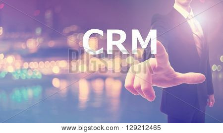 Crm Concept With Businessman
