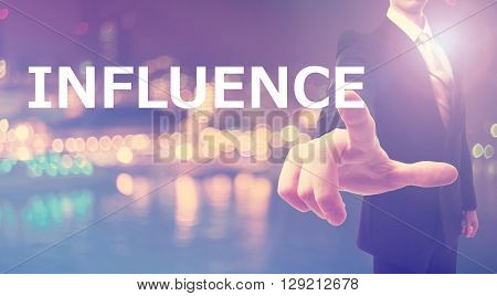 Influence Concept With Businessman
