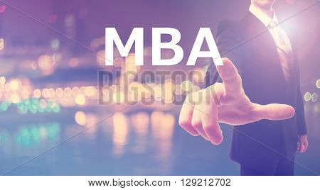 Mba Concept With Businessman