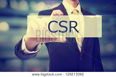 Business Man Holding Csr