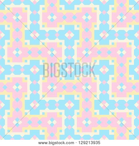 Seamless background with geometric pattern vector. Abstract interwoven pattern.