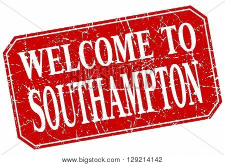 welcome to Southampton red square grunge stamp