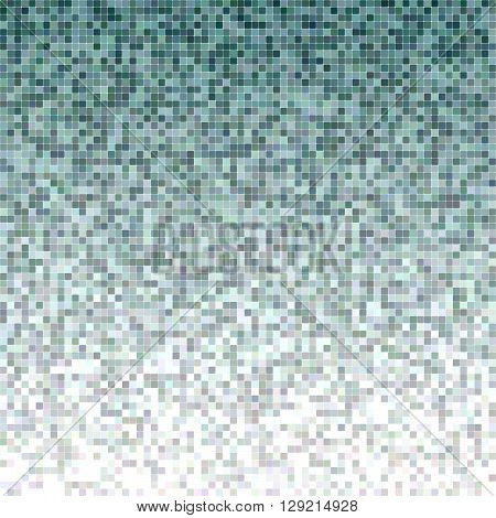 Teal color square mosaic vector background design