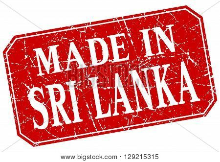 made in Sri Lanka red square grunge stamp