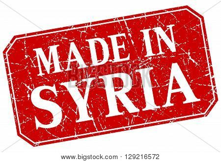 made in Syria red square grunge stamp