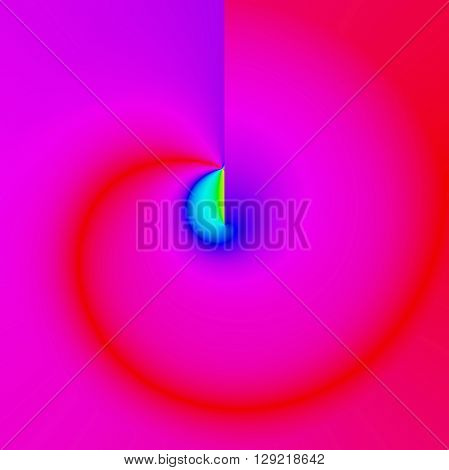 Abstract saturation coloring background with visual poolar coordinates effect