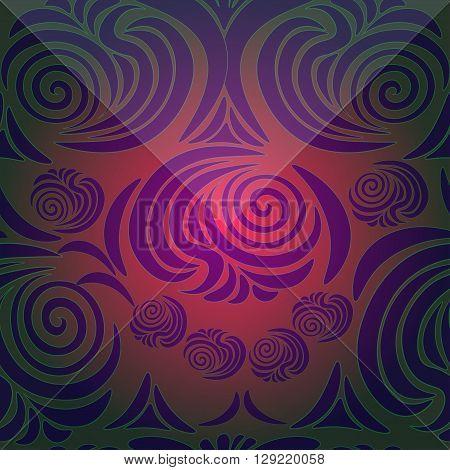 floral pattern with brink dark vector illustration