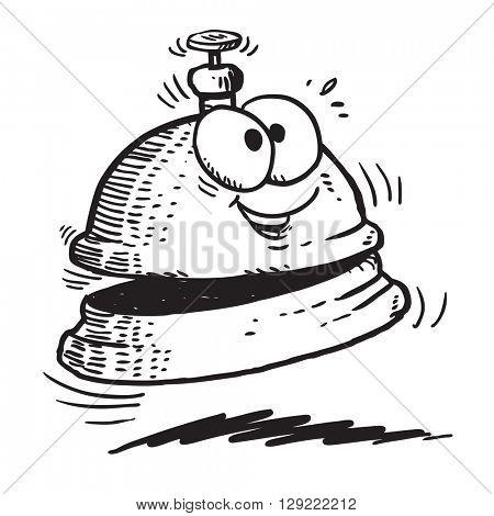 Cartoon service bell