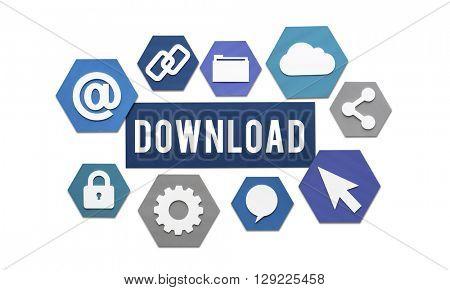 Downloading Loading Online Internet Concept