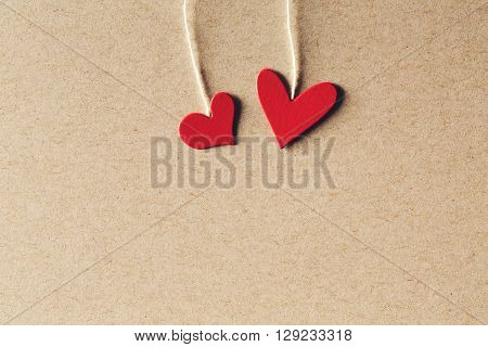 Handmade Small Paper Hearts