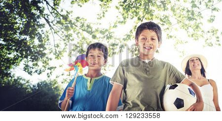 Family Bonding Happiness Outdoors Park Concept