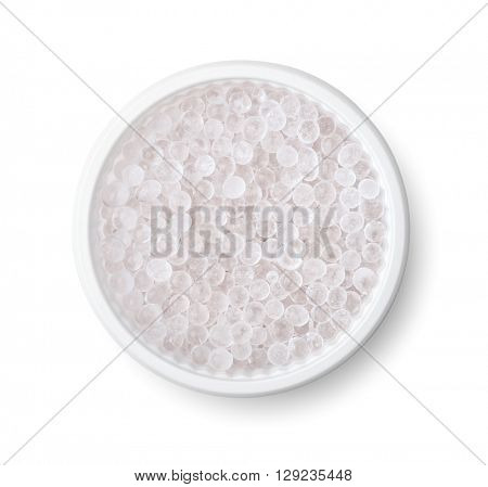 Silica gel pellets isolated on white