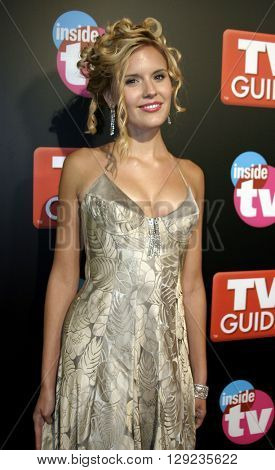 Maggie Grace at the TV Guide and Inside TV 2005 Emmy After Party at the Roosevelt Hotel in Hollywood, USA on September 18, 2005.