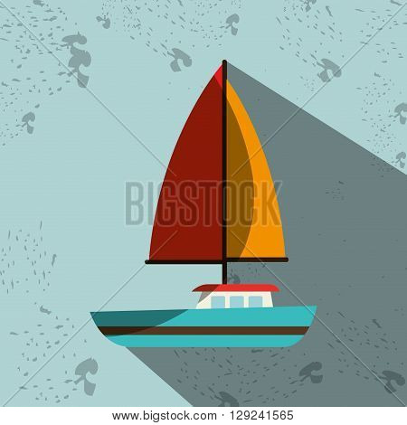 sailboat isolated design, vector illustration eps10 graphic