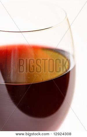 Closeup of red wine