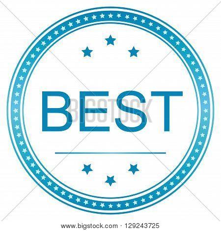 Best icon. Best seal. Best sticker. Vector image.