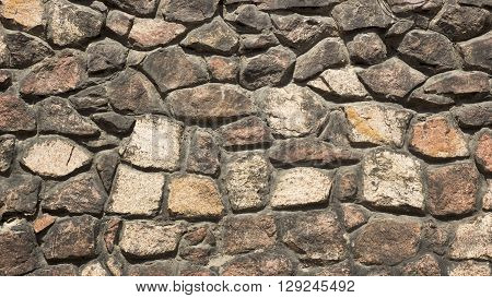 Old Gothic Stone Wall Of Rubble