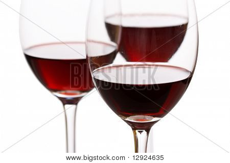 glasses of red wine