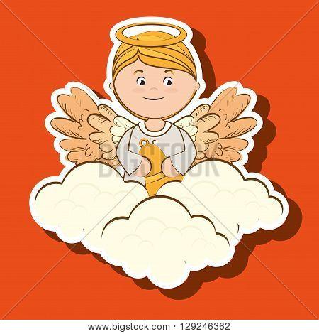 beautiful angel design, vector illustration eps10 graphic