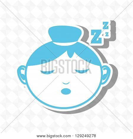 sleeping concept design, vector illustration eps10 graphic