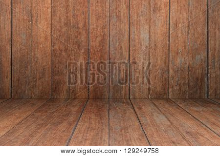 Old wooden interior texture background, stock photo