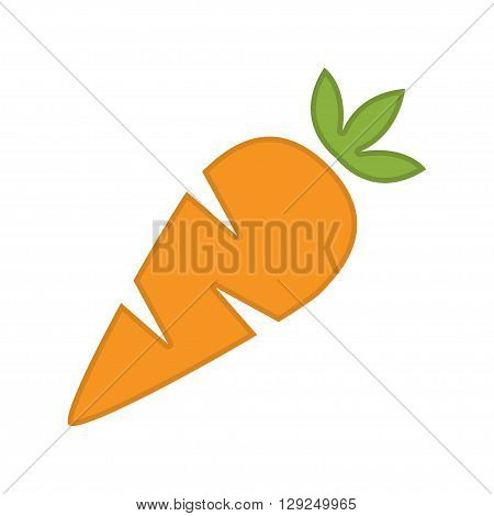 Vector orange carrot carrot meals icons set white background