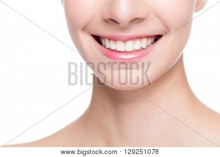 Beautiful smile with whitening teeth