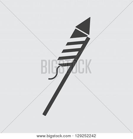 Firework rocket icon illustration isolated vector sign symbol