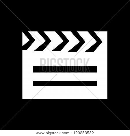 an images of Cinema Clapboard Icon Illustration design